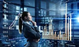 Innovative technologies as symbol for progress. Mixed media Royalty Free Stock Image
