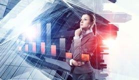 Innovative technologies as symbol for progress. Mixed media Stock Photography