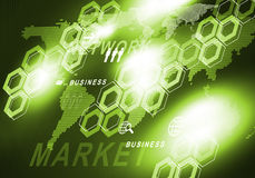 Innovative technologies. Digital background image presenting modern business concepts Stock Photos