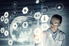 Innovative technologies in medicine . Mixed media Royalty Free Stock Photography
