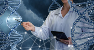 Innovative technologies in science and medicine . Technologies in science and medicine concept design Stock Photography