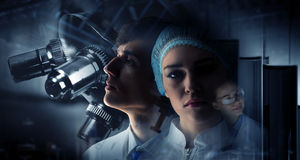 Innovative technologies in science and medicine. Mixed media Stock Photo