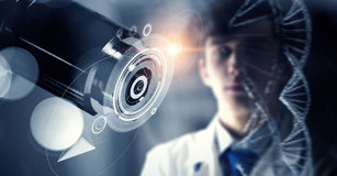 Innovative technologies in science and medicine. Mixed media . Mixed media Stock Photography