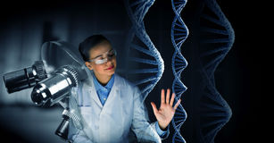 Innovative technologies in science and medicine. Mixed media . Mixed media Stock Image