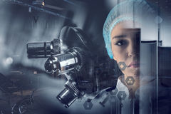 Innovative technologies in science and medicine. Mixed media Stock Image