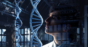 Innovative technologies in science and medicine. Mixed media Stock Images