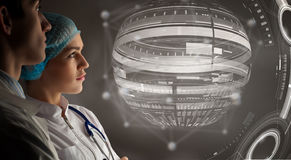 Innovative technologies in science and medicine . Mixed media Royalty Free Stock Photography