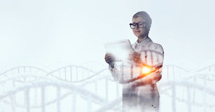 Innovative technologies in science and medicine . Mixed media Royalty Free Stock Photo