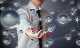 Innovative technologies in science and medicine. Technology to connect. The concept of security.  Stock Photos