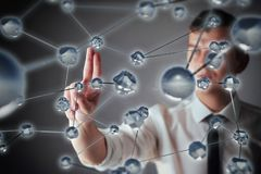 Innovative technologies in science and medicine. Technology to connect. The concept of security.  Stock Photo