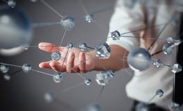 Innovative technologies in science and medicine. Technology to connect. The concept of security.  Royalty Free Stock Image