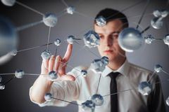 Innovative technologies in science and medicine. Technology to connect. The concept of security.  Royalty Free Stock Photos