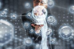 Innovative technologies in science and medicine. Technology to connect. The concept of security. Innovative technologies in science and medicine. Technology to Stock Image
