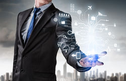 Innovative technologies for successful business . Mixed media Royalty Free Stock Image