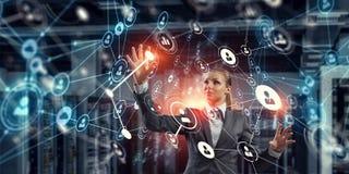 Innovative technologies in use. Mixed media Royalty Free Stock Photos