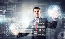 Innovative technologies in use . Mixed media Stock Image