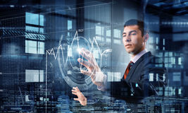 Innovative technologies in use . Mixed media Royalty Free Stock Photo