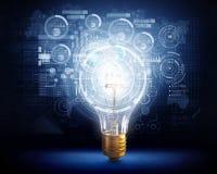 Innovative technology ideas . Mixed media Royalty Free Stock Image