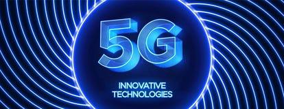Innovative 5th Generation network technology vector illustration. stock image