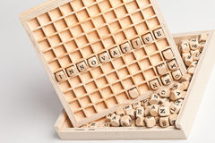 Innovative wooden letters Stock Photography