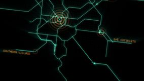 Innovativt autopilotsystem för bilen konstgjord intelligens stock illustrationer