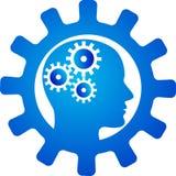 Innovativt meningskugghjul royaltyfri illustrationer