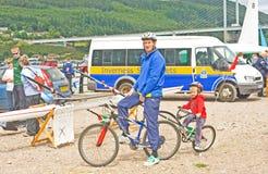 Innovazione della bicicletta. Bici connesse. Fotografia Stock