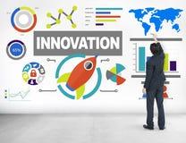 Innovazione di successo di Planning Creativity Growth dell'uomo d'affari immagini stock libere da diritti