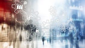 Innovazione e automazione di processi di tecnologia Industria astuta illustrazione di stock