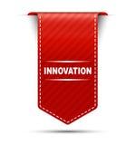 Innovazione rossa di progettazione dell'insegna illustrazione di stock