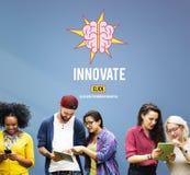 Innovez créent le concept de stratégie d'aspirations d'idées photo libre de droits