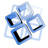 innowaci błękitny powierzchnia Obraz Royalty Free