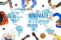 Innowaci inspiraci twórczości pomysłów postęp Wprowadza innowacje Concep Zdjęcia Royalty Free