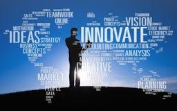 Innowaci inspiraci twórczości pomysłów postęp Wprowadza innowacje Concep Obrazy Royalty Free