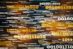 Innowacja cyfrowych dane binarnego kodu t?a futurystyczna technologia, poj?cie wspornikowi duzi dane i internet rzeczy dla, royalty ilustracja