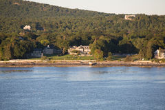 Inns on Maine Coast Stock Image