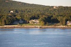 Inns on Maine Coast. Huge Tudor mansion on the coast of Maine near Bar Harbor Stock Image