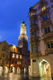 Innsbruck's stadstorn Arkivbilder