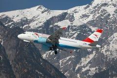 Austrian Airlines flygbuss A319 Arkivfoto