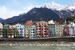 Innsbruck. City near Austrian Alps Royalty Free Stock Photos
