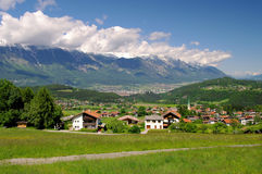 Innsbruck. In Austria and Alps mountains Stock Image