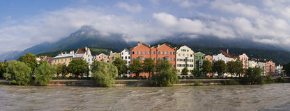 Innsbruck. Austria, Tirol, old street in downtown Royalty Free Stock Images