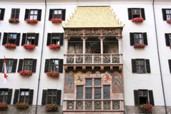 Innsbruck. Famous landmark in Innsbruck, Tirol, Austria - Golden Roof (Goldenes Dachl Stock Photos