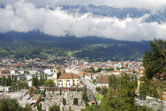 Innsbruck. View over Innsbruck and the Karwendel mountains (Austria Royalty Free Stock Photo