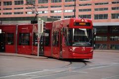 трам красного цвета innsbruck Стоковое Изображение