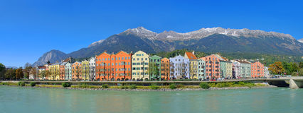 Innsbruck. The town Innsbruck in Austria and Alps mountains Stock Images