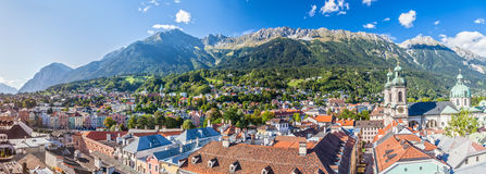 Innsbruck. Panorama of Innsbruck. Austria Royalty Free Stock Photo