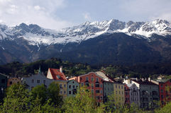 Innsbruck. Mountain view from Innsbruck, Austria Stock Photos