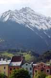 Innsbruck. Mountain view from Innsbruck, Austria Royalty Free Stock Photo