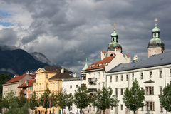Innsbruck. Architecture of Innsbruck. Town in Tirol, Austria Stock Photo
